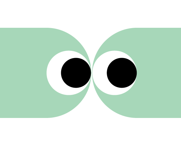 spunout dude Emoji person looking to the viewer's right