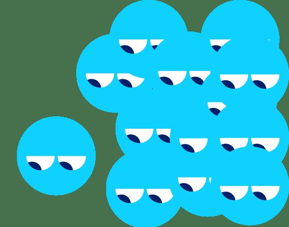 spunout dude Emoji people behind a singular emoji person