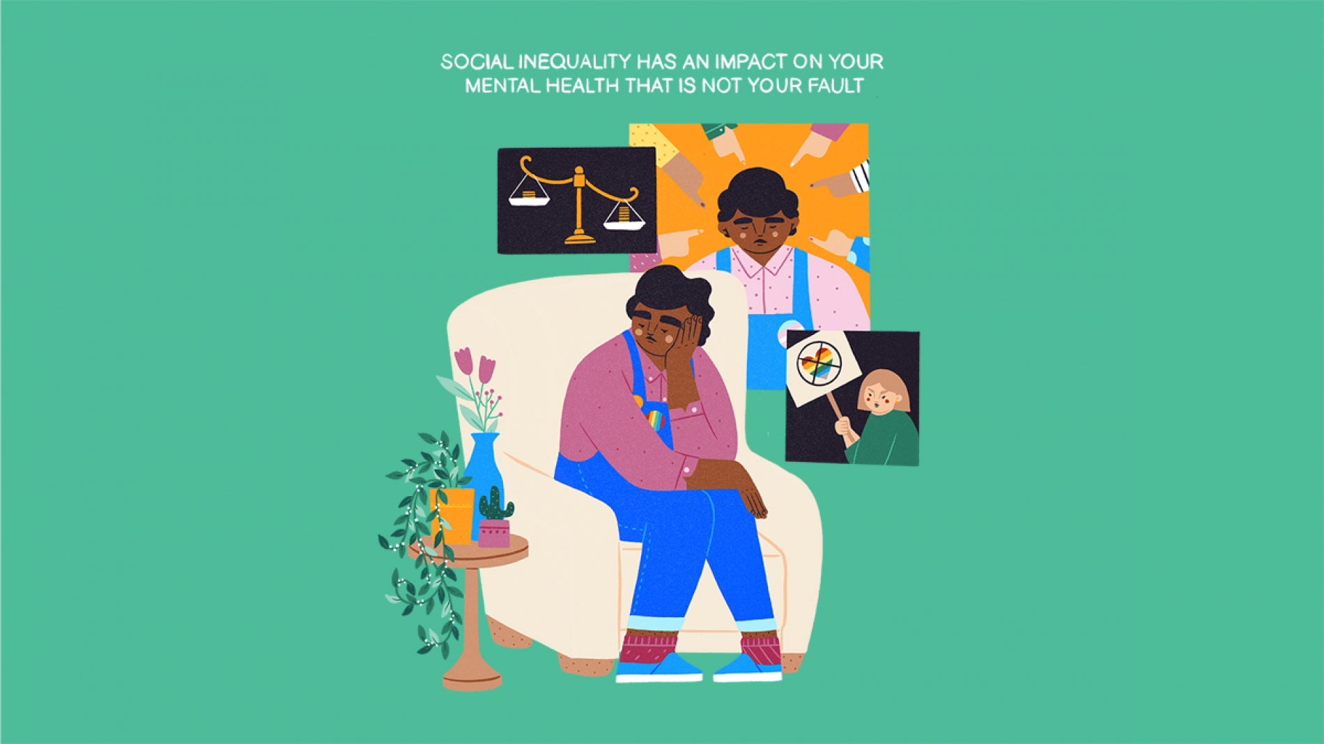Young person experiencing social inequality mental health