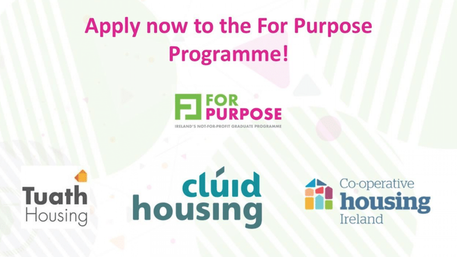 Apply for the For Purpose Social Housing Programme for Graduates