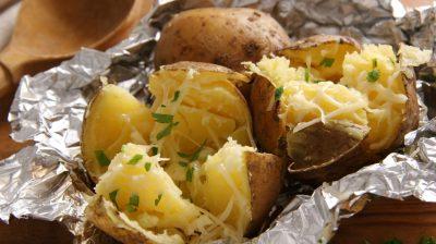 Baked potatoes.