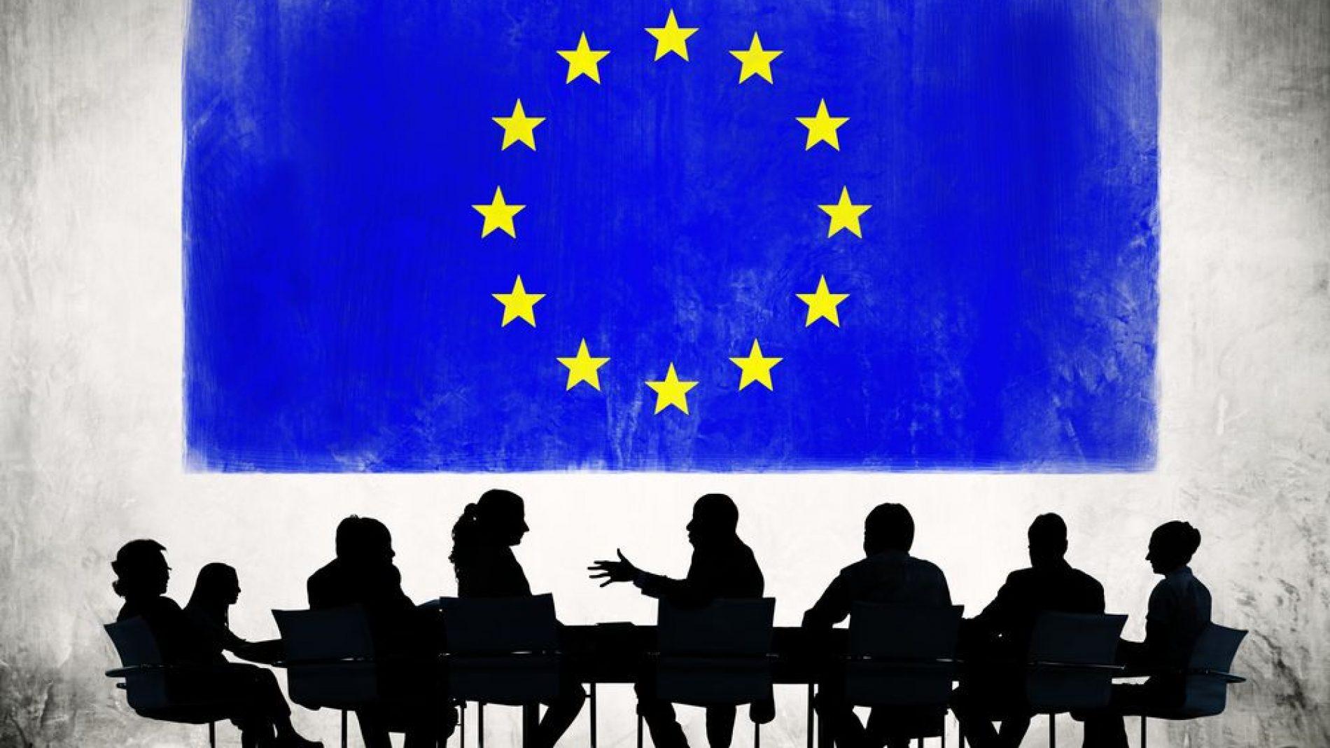 European Union flag flying