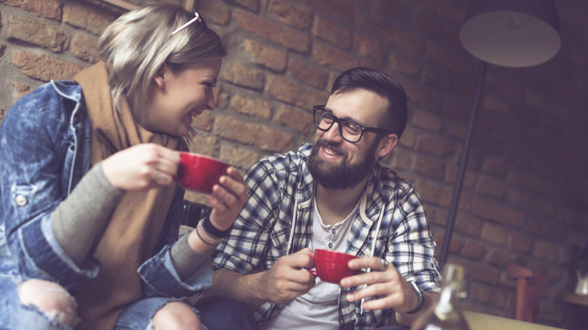 Couple drinking coffee