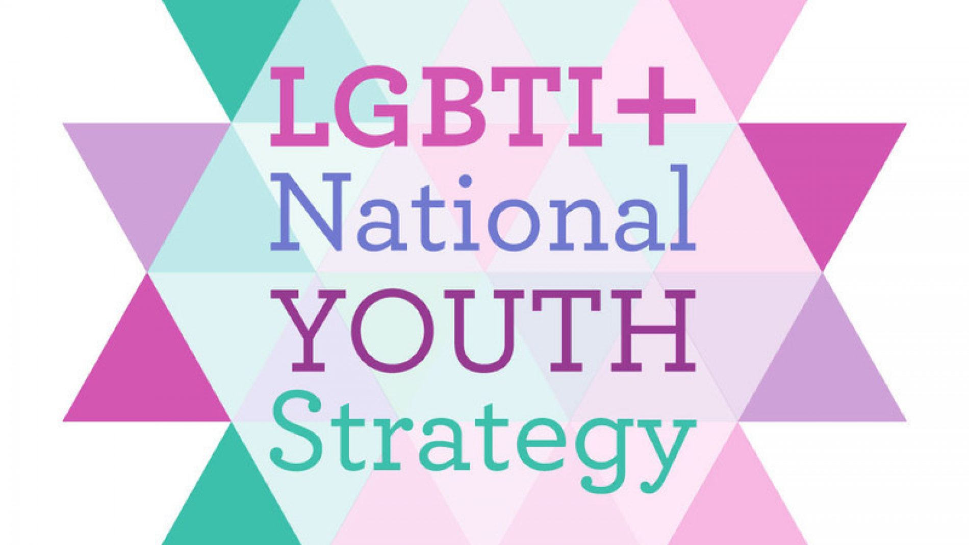 The logo of the LGBTI+ National Youth Strategy