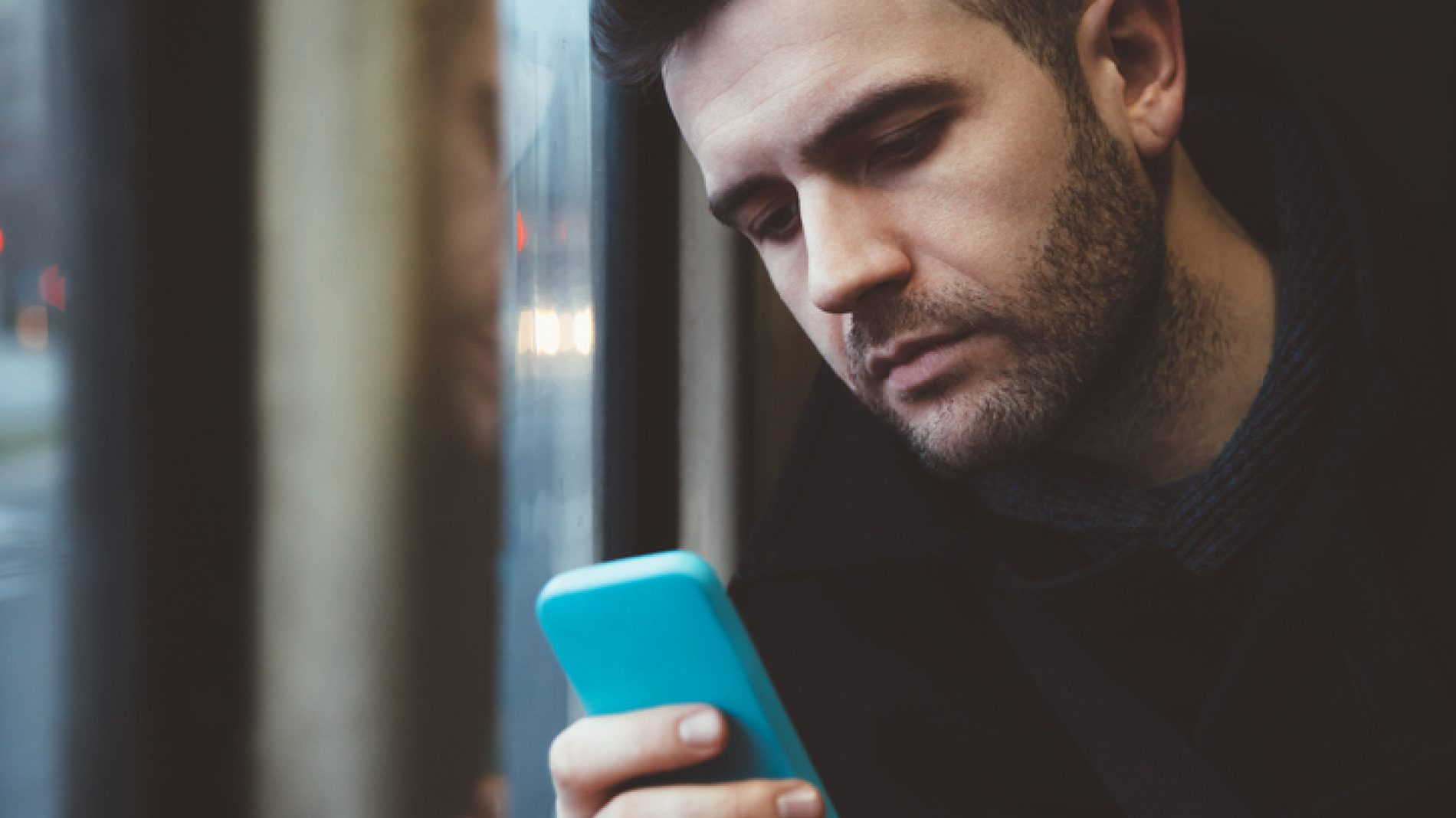 Young man using a smart phone
