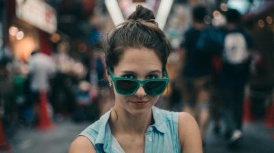 Portrait of a young person with sunglasses