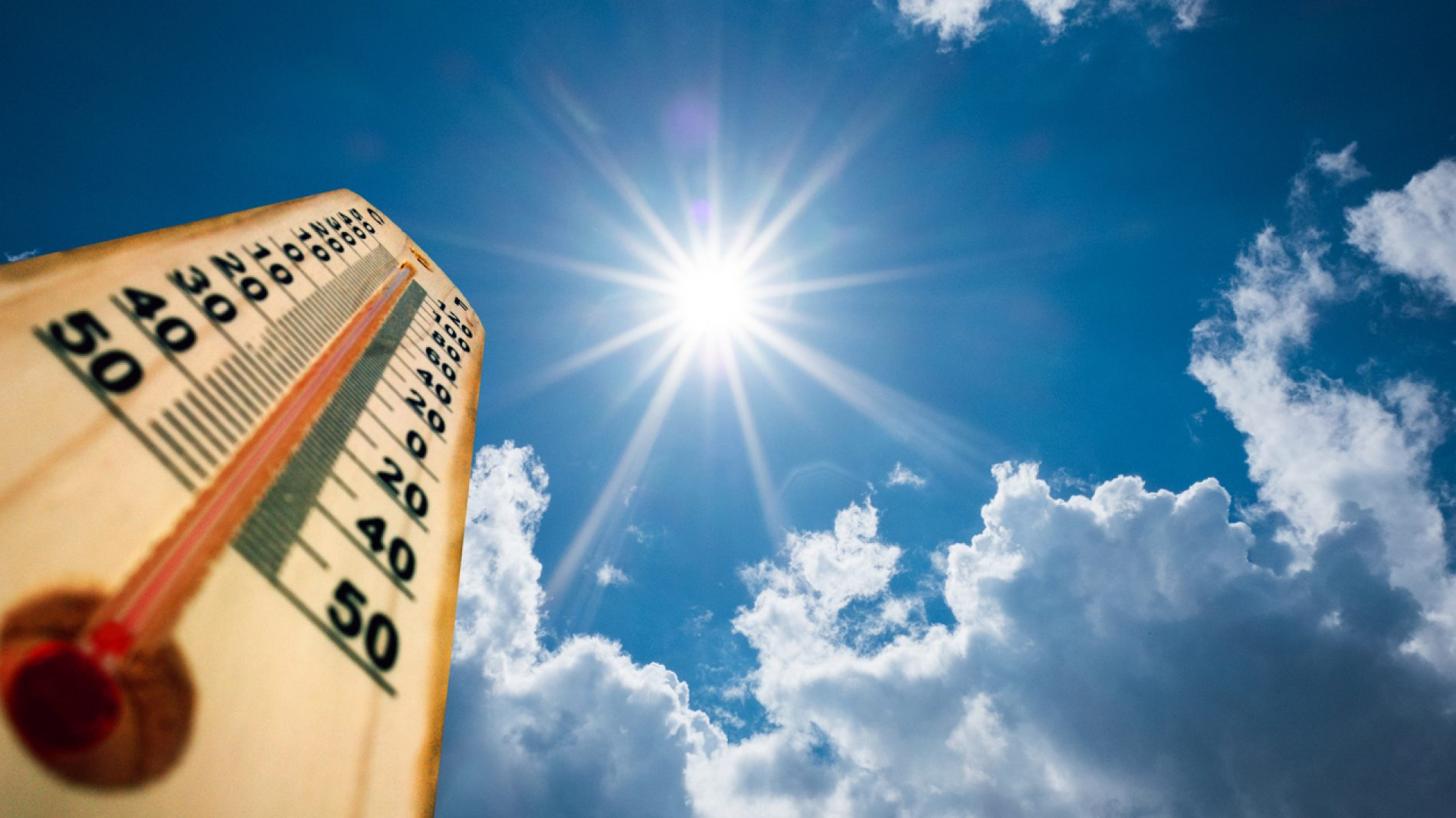 Rising temperatures due to climate change