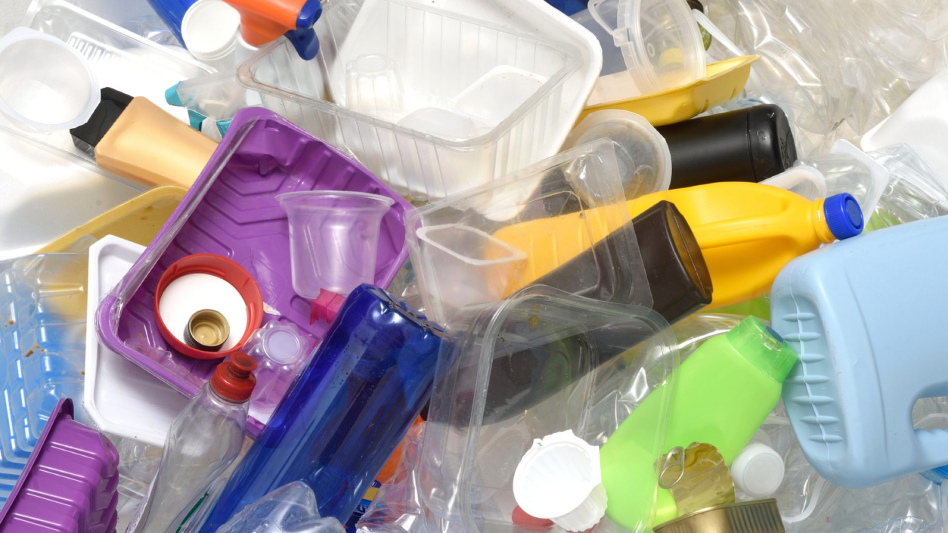 close up of a Recycling plastic