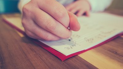 Student Writing Homework