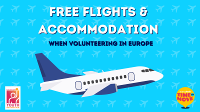 Image with text Free Flights and Accommodation for the Time to Move 2021 campaign