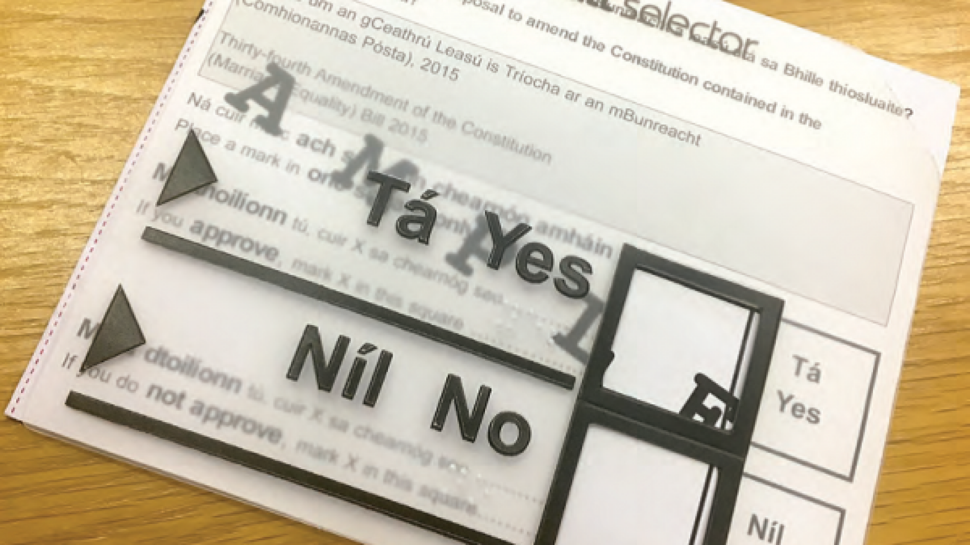 Tactile Voting Ballot