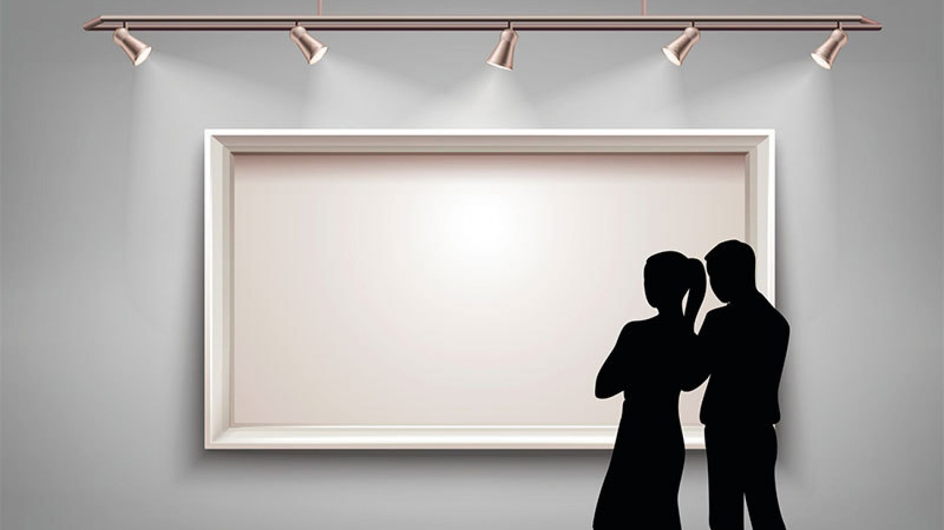 Two people in a gallery