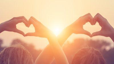 Heart-shape for the sun.