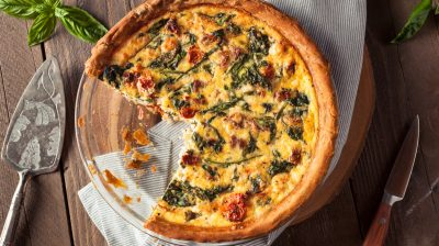 Homemade Cheesy Egg Quiche for Brunch