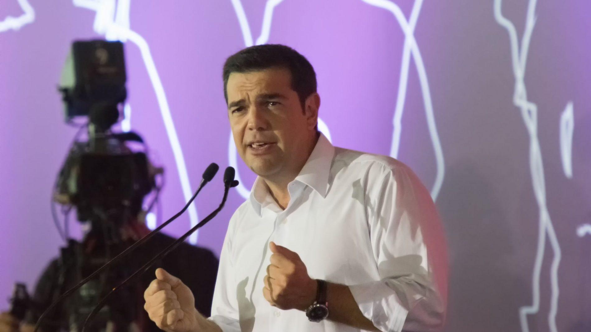 Greek Prime Minister Alexis Tspirias