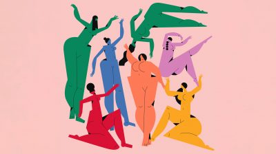 Illustration of people with different body shapes and colours - body positivity