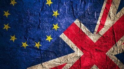 European and UK flag