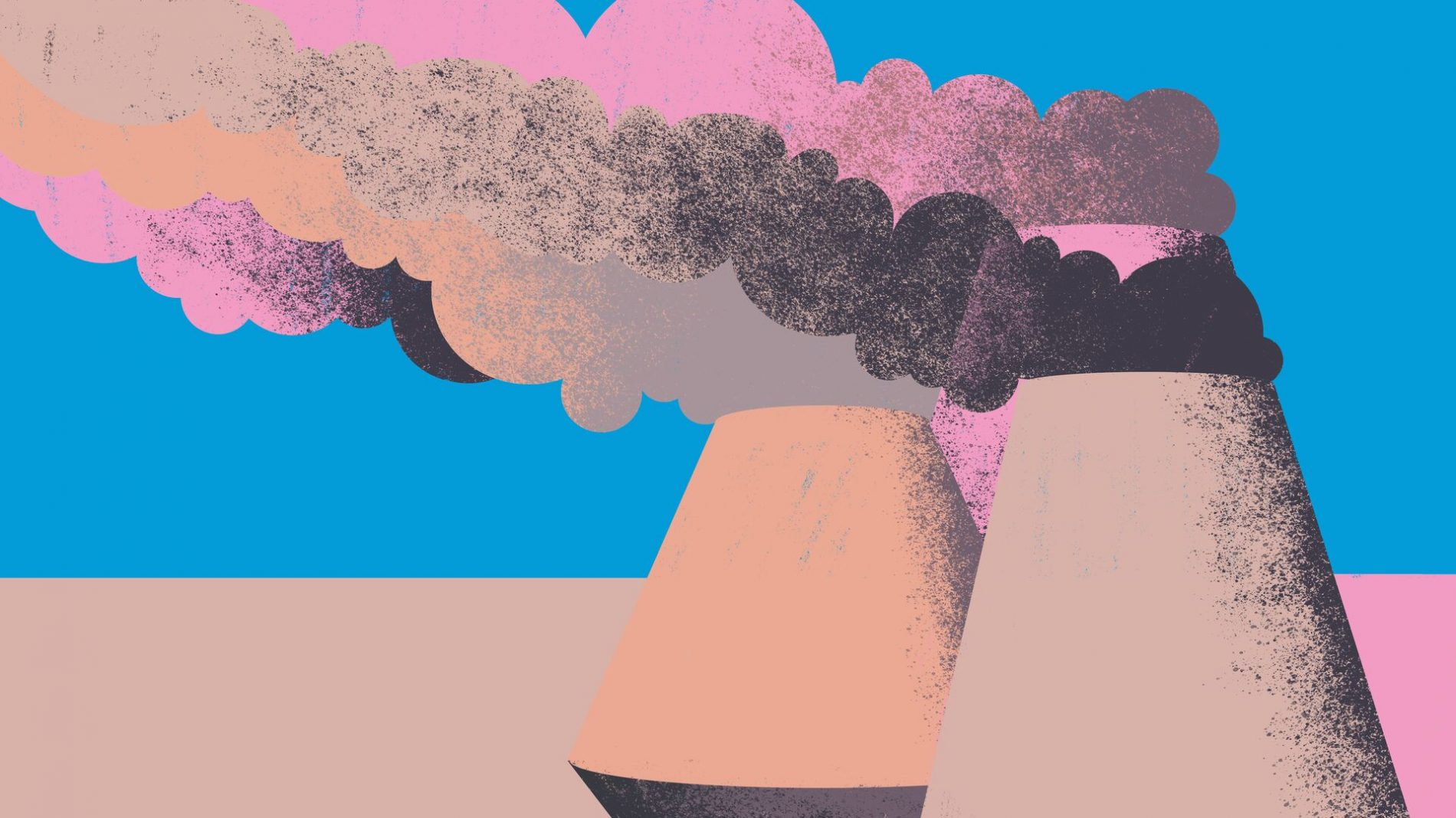 illustration of burning fossil fuels contributes to climate change