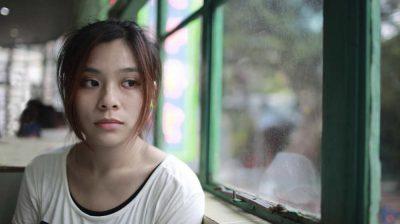 A sad young woman