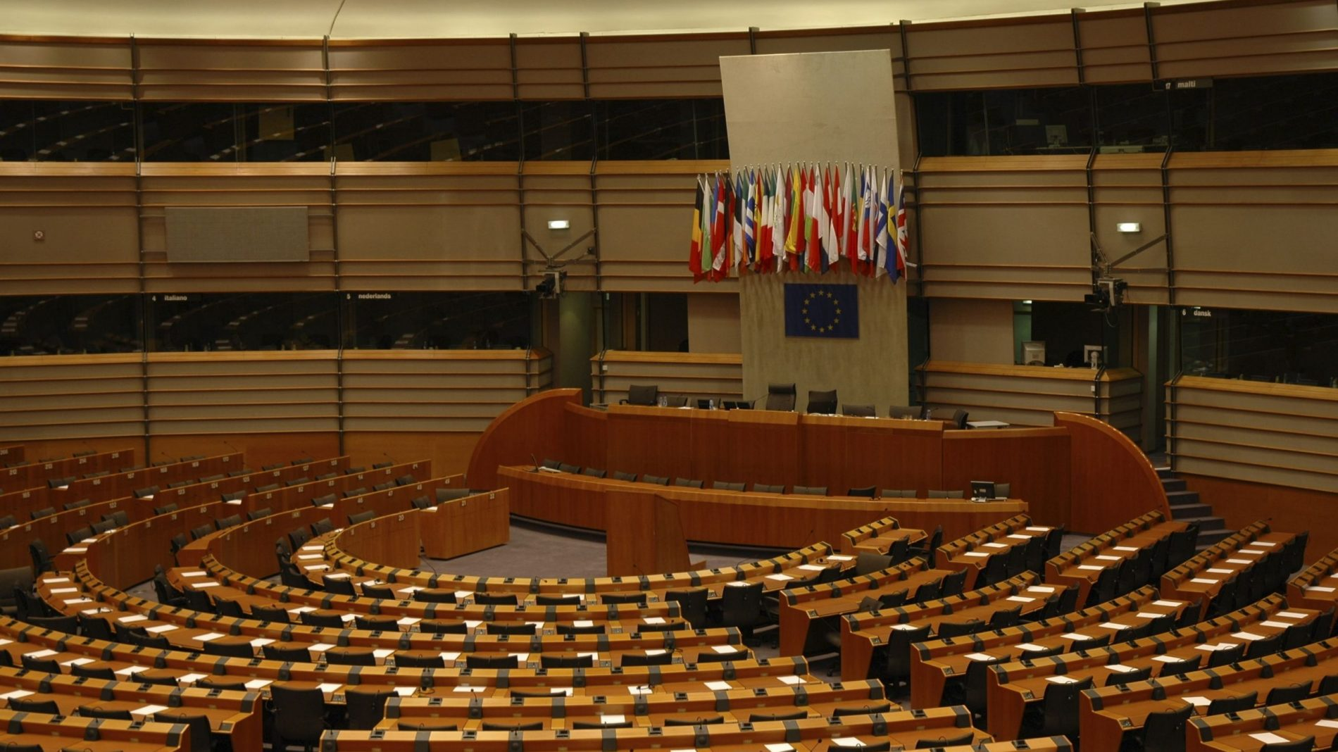 the hemicycle of the european parliament
