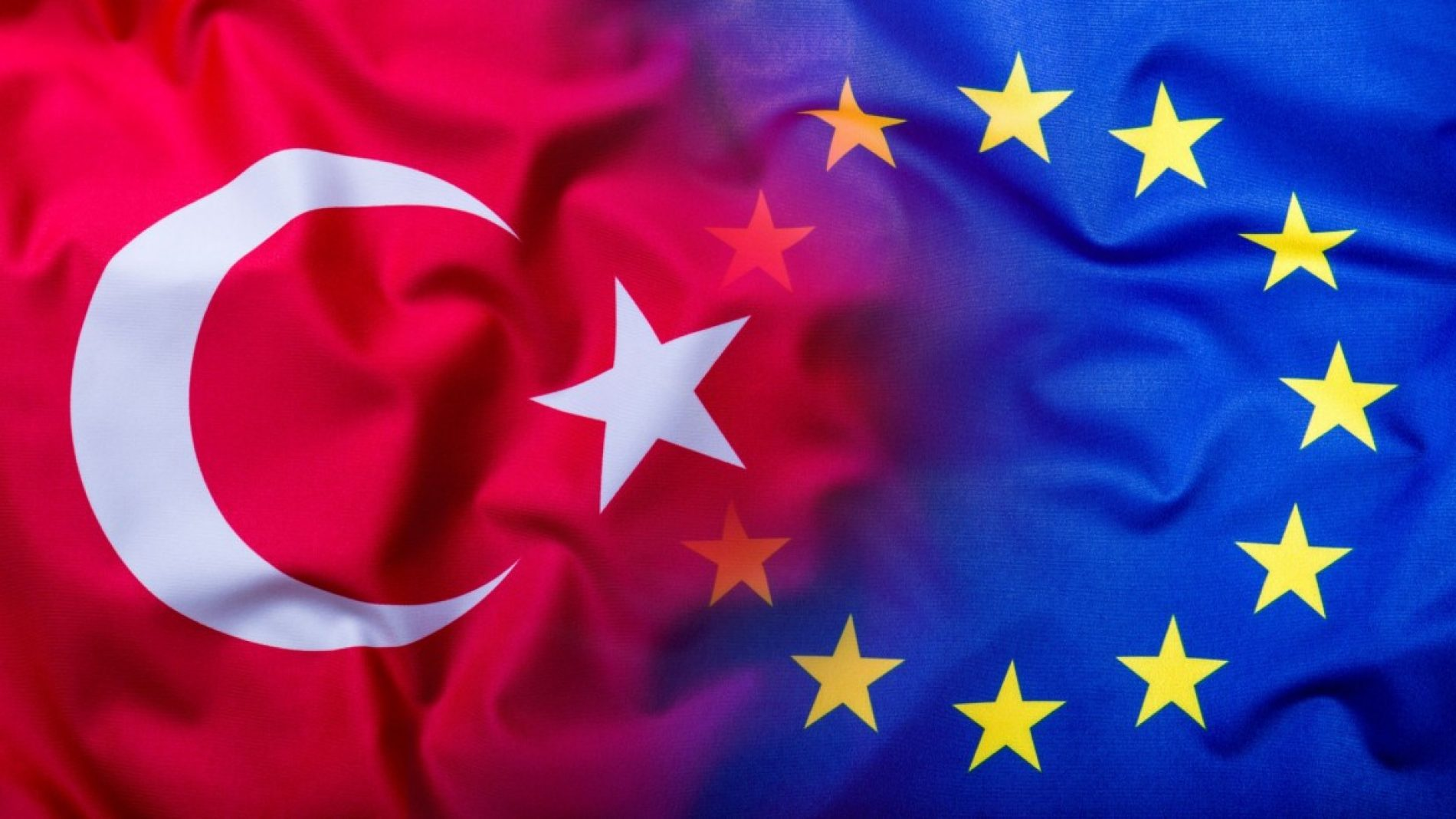 The EU and Turkey flags together