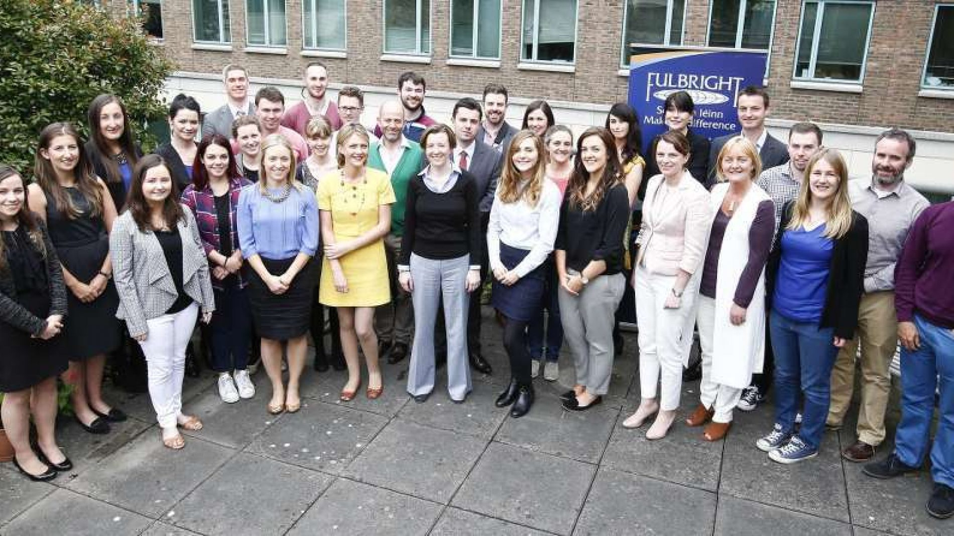 group of fulbright academics