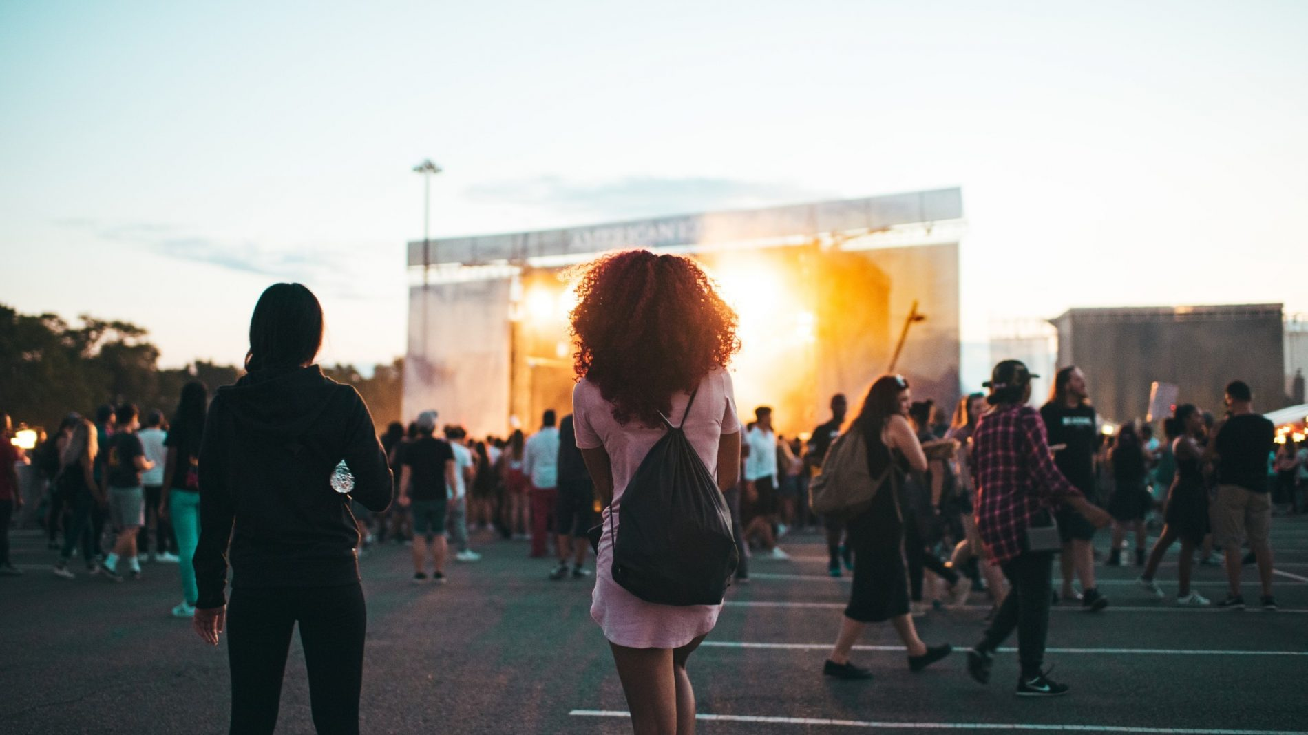Young people at a music festival