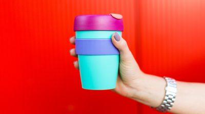 Woman with a coffee mug