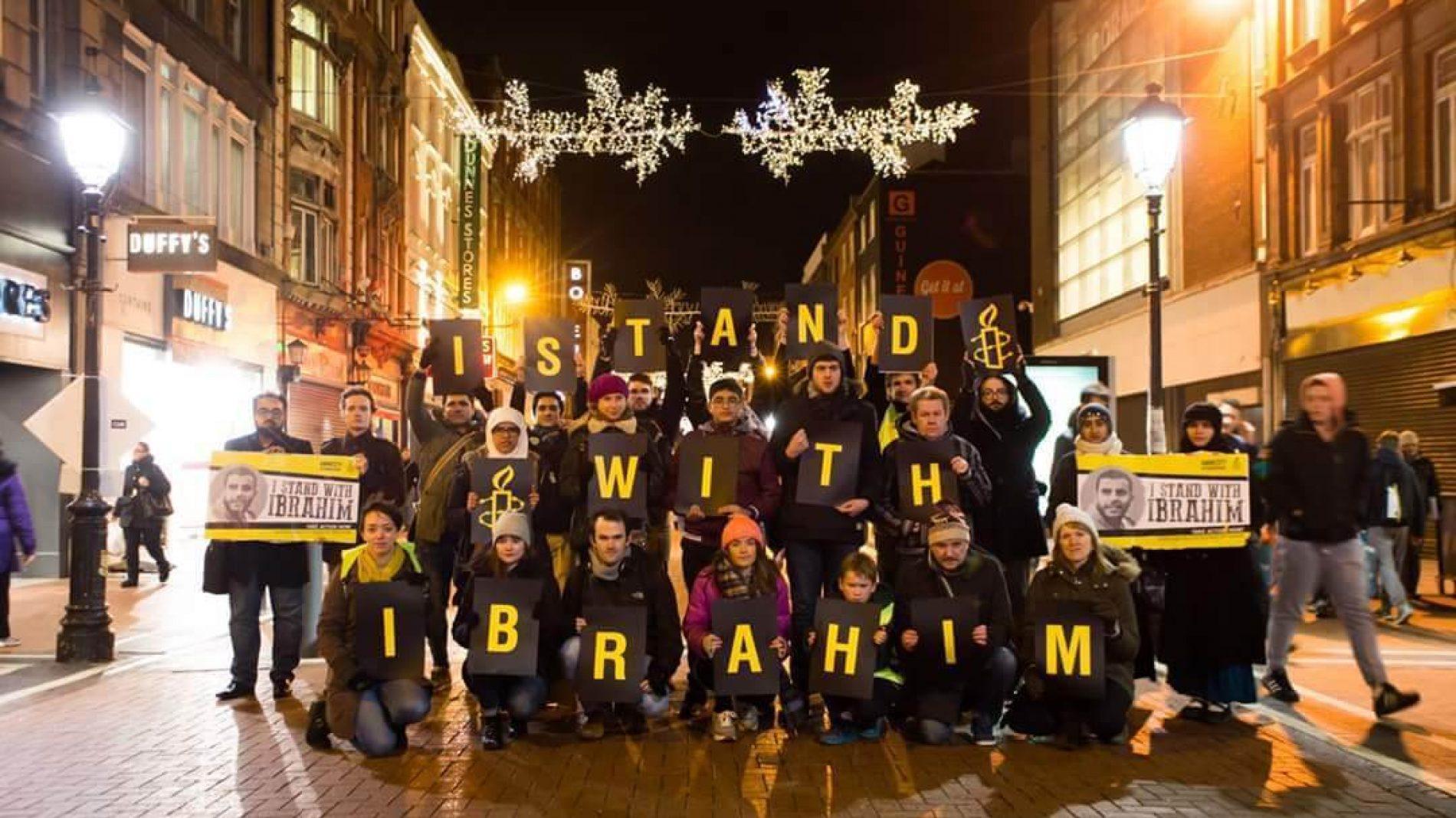 Amnesty International march for Ibrahim Halawa