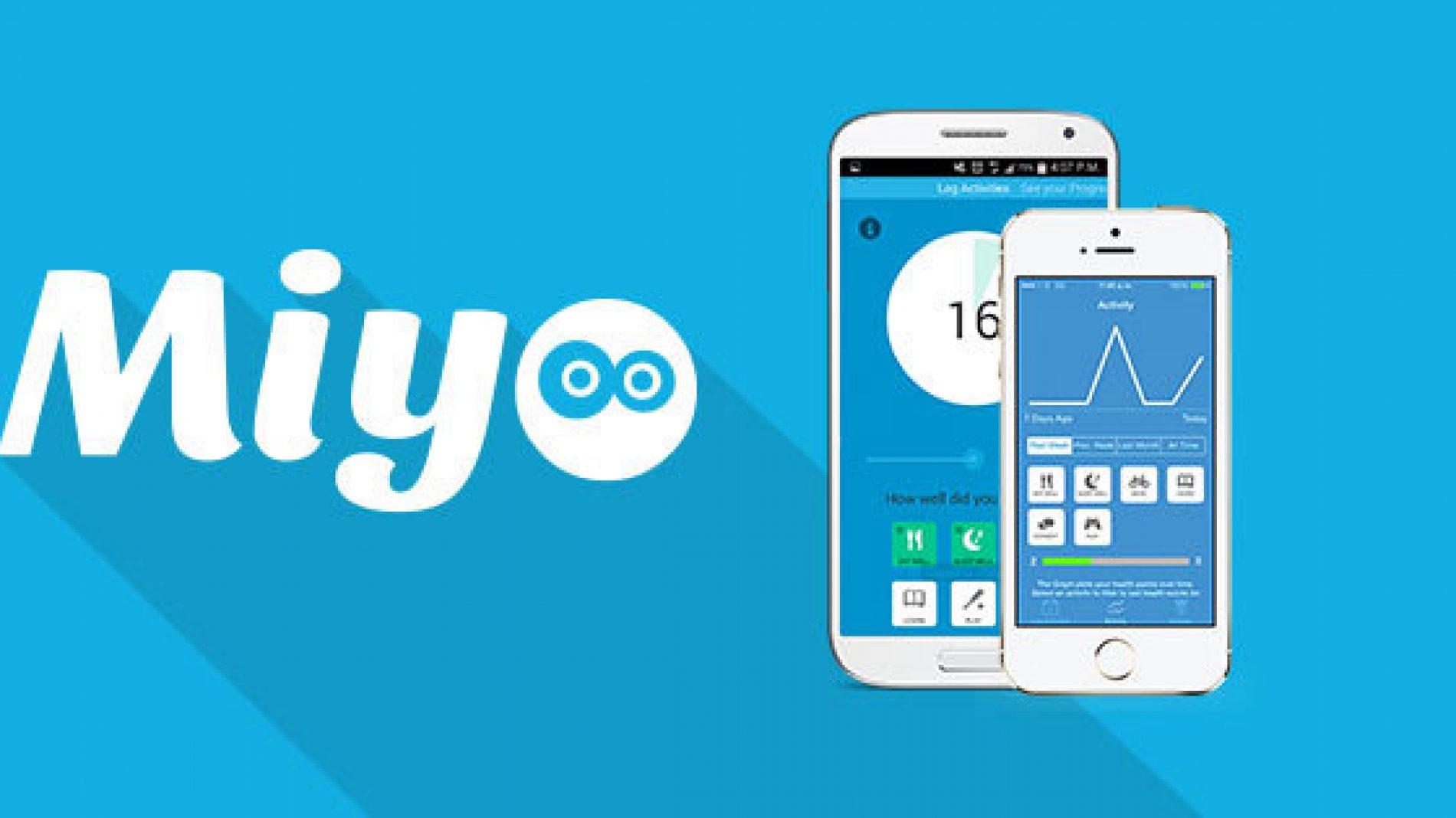 The MiYo app on a ohone