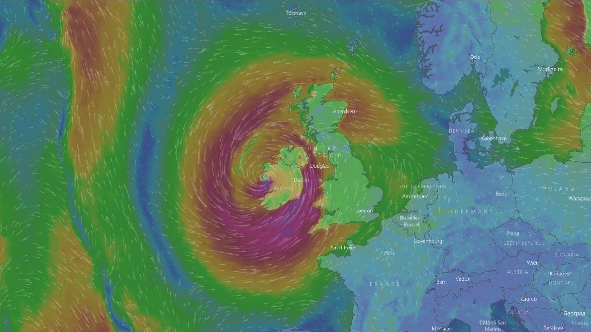 Satellite image of Hurricane Ophelia