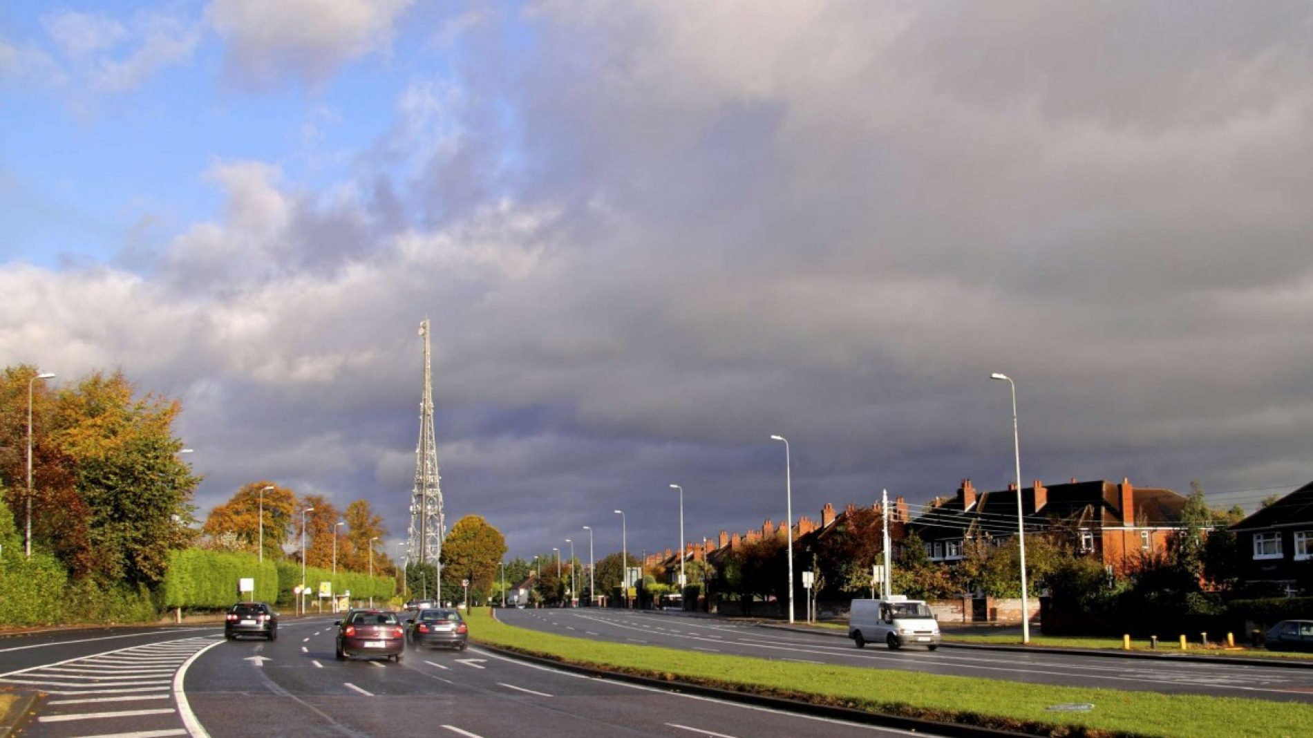 View of the RTE tower from the Stillorgan Road