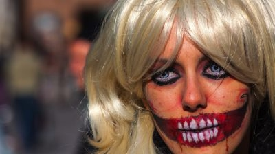Scary woman with halloween make up