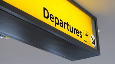 Airport Departure sign