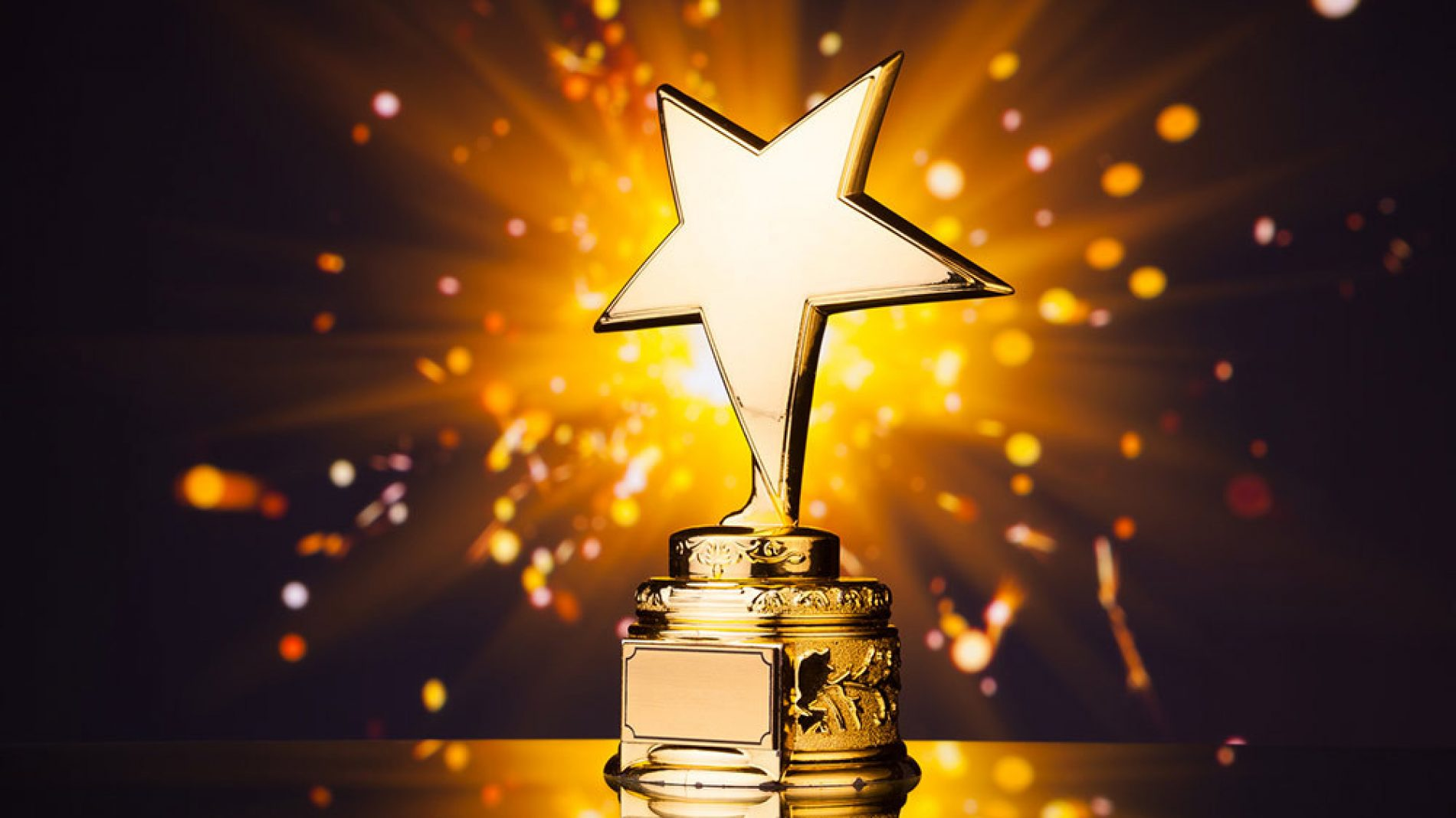 an award in the shape of a star