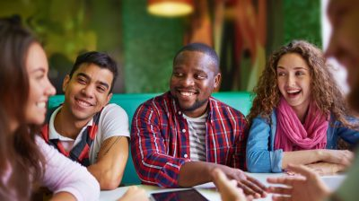 students-chatting