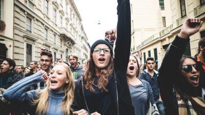 Milan students manifestation on October, 4 2013