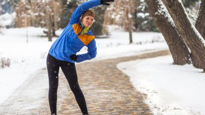 woman exercising in cold weather